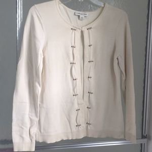 Ivory cardigan size small